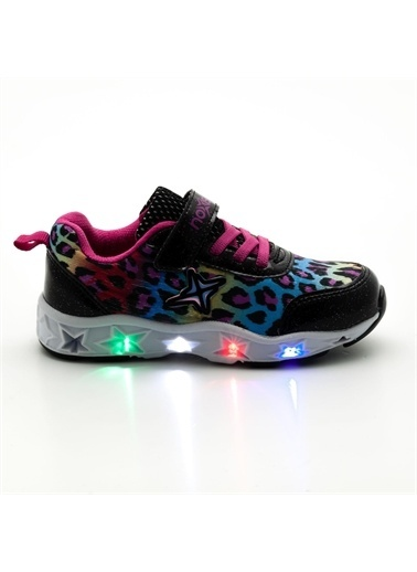 Noxis Noxis Dance Işıklı Kız Çocuk Yürüyüş ve Spor Ayakkabısı Siyah